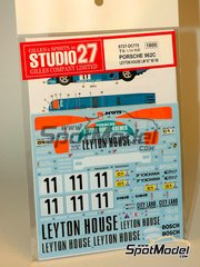 Studio27: Marking / livery 1/24 scale - Porsche 962C  Leyton House #11 - Masanori Sekiya (JP), Hideki Okada (JP), Wayne Taylor (ZA), Franz Konrad (AT), George Fouché (ZA) - 24 Hours Le Mans 1988, 1989 and 1990 - for Tamiya references TAM24233 and TAM24313