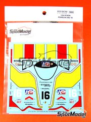 Studio27: Marking / livery 1/24 scale - Porsche 962 Dyson #16 - 24 Hours Le Mans 1983 - water slide decals and assembly instructions - for Tamiya references TAM24233 and TAM24313