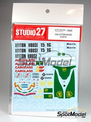 Studio27: Marking / livery 1/20 scale - Leyton House Judd CG901B Carglass BP Osama Anibel #15, 16 - Ivan Capelli (IT), Mauricio Gugelmin (BR) - FIA Formula 1 World Championship 1990 - water slide decals and assembly instructions - for Tamiya references TAM20028 and 20028