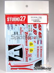 Studio27: Decals 1/12 scale - Honda NSR500 Emerson #10, 65 - Loris Capirossi (IT), Alex Barros (BR) - Motorcycle World Championship 2000