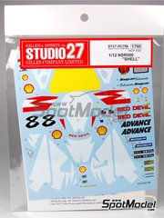 Studio27: Decals 1/12 scale - Honda NSR500 Shell #8 - Chris Walker (GB) - Motorcycle World Championship 2001 - for Tamiya reference TAM14082