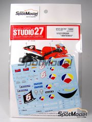 Studio27: Marking / livery 1/12 scale - Yamaha YZR500 Antena3 - Norifumi 'Norick' Abe (JP) - Japan Grand Prix 2000 - water slide decals and assembly instructions