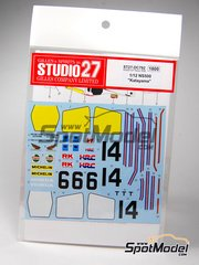 Studio27: Decals 1/12 scale - Honda NSR500 Rothmans - Ukyo Katayama (JP) - World Championship 1985 - for Tamiya kit