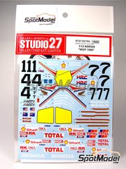Studio27: Decals 1/24 scale - Honda NSR500 Rothmans #7 - Freddie Spencer (US), Wayne Gardner (AU) - Spanish Grand Prix 1986 image
