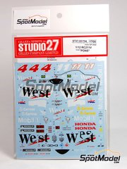 Studio27: Decals 1/12 scale - Honda RC211V West Correos Pons Team #11 - World Championship 2002 - for Tamiya kit