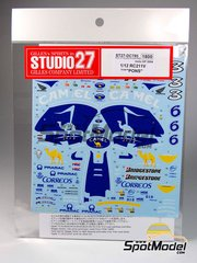 Studio27: Decals 1/12 scale - Honda RC211V Camel Team Pons #3, 6 - Makoto Tamada (JP) - Valencia Grand Prix 2003 - for Tamiya kit