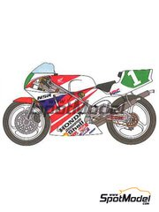 Studio27: Decals 1/12 scale - Honda NSR250 HRC #1 - Tadayuki 'Taddy' Okada (JP) - World Championship 1991 - for Tamiya reference TAM14059