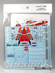 Studio27: Marking / livery 1/12 scale - Honda NSR500 Repsol Fortuna #5, 12, 17, 24 - Alberto Puig (ES), Carlos Checa (ES) - Motorcycle World Championship 1995 and 1996 - water slide decals and assembly instructions - for Tamiya kit
