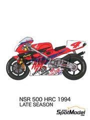 Studio27: Decals 1/12 scale - Honda NSR500 Michelin #4. 7, 8 - Michael 'Mick' Doohan (AU), Alex Criville (ES), Shinichi Itoh (JP) - Late season 1994