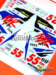 Studio27: Marking / livery 1/12 scale - Honda NSR500 #52, 55 - Takuma Aoki (JP) - World Championship 1995 and 1996