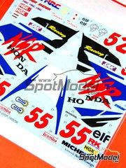 Studio27: Decals 1/12 scale - Honda NSR500 #52, 55 - Takuma Aoki (JP) - World Championship 1995, 1996