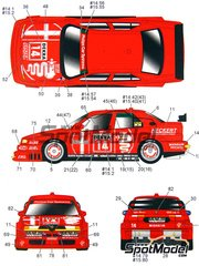 Studio27: Marking 1/25 scale - Alfa Romeo 155 V6 TI