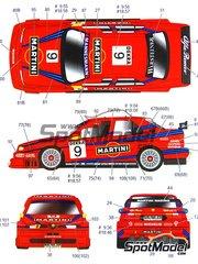 Studio27: Decoración escala 1/24 - Alfa Romeo 155 V6 TI Martini Nº 9, 18 - Stefano Modena (IT), Gabriele Tarquini (IT) - ITC 1996 - calcas de agua y manual de instrucciones - para las referencias de Tamiya TAM24176-old, TAM96356 y TAM96357