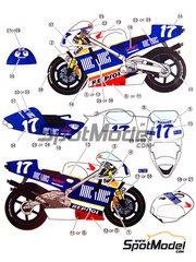 Studio27: Decals 1/12 scale - Honda NSR500 Repsol Ducados #17 - Alberto Puig (ES) - World Championship 1994
