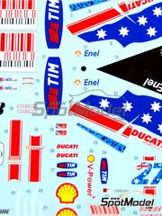 Studio27: Marking / livery 1/12 scale - Ducati Desmosedici GP9 Enel #27 - Casey Stoner (AU) - Australian Moto GP Grand Prix 2009 - water slide decals and assembly instructions - for Tamiya references TAM14101 and 14101