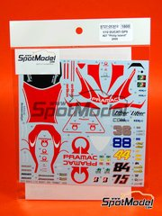 Studio27: Decals 1/12 scale - Ducati Desmosedici GP9 #27, 36, 69 - Nicky Hayden (US), Casey Stoner (AU), Mika Kallio (FI) - Australian Moto GP Grand Prix 2009 - for Tamiya references TAM14101 and 14101
