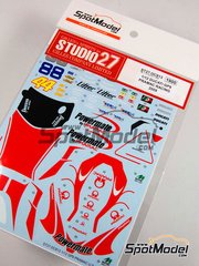 Studio27: Decals 1/12 scale - Ducati Desmosedici GP9 Pramac #36, 44, 88 - Mika Kallio (FI), Canepa - USA Grand Prix 2009 - for Tamiya reference TAM14101
