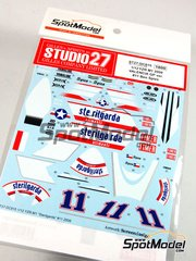 Studio27: Marking / livery 1/12 scale - Yamaha YZR-M1 Sterilgalda #11 - Ben Spies (US) - Valencia Grand Prix 2009 - white metal parts and assembly instructions - for Tamiya references TAM14117, 14117, TAM14119, 14119, TAM14120 and 14120