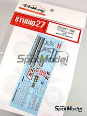 Studio27: Decals 1/12 scale - Kawasaki Ninja ZX-RR Hayate Racing Team #33 - Marco Melandri (IT) - World Championship 2009 - for Tamiya reference TAM14109