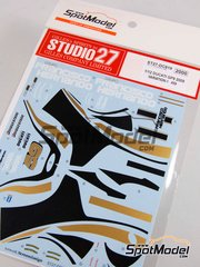 Studio27: Decals 1/12 scale - Ducati Desmosedici GP9 Variation 1 Grupo Francisco Hernando #59 - Manuel 'Sete' Gibernau (ES) - Spanish Grand Prix 2009 - for Tamiya reference TAM14101