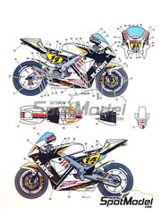 Studio27: Marking / livery 1/12 scale - Honda RC211V Elettronica Discount #14 - Randy de Puniet (FR) - Motorcycle World Championship 2009 - water slide decals and assembly instructions - for Tamiya references TAM14106 and TAM14107