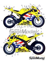 Studio27: Marking / livery 1/12 scale - Yamaha YZR-M1 Camel #5 - Edwards Colin (US) - Motorcycle World Championship 2006 - water slide decals and assembly instructions - for Tamiya references TAM14106 and TAM14107