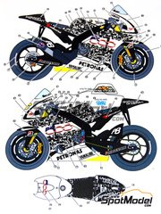 Studio27: Marking / livery 1/12 scale - Yamaha YZR-M1 Special Livery Fiat #46 - Valentino Rossi (IT) - Laguna Seca Grand Prix 2010 - water slide decals and assembly instructions - for Tamiya references TAM14117 and TAM14119