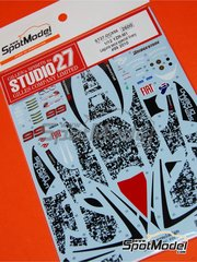 Studio27: Decals 1/12 scale - Yamaha YZR-M1 Special Livery Fiat #99 - Jorge Lorenzo (ES) - Laguna Seca Grand Prix 2010 - for Tamiya references TAM14117 and TAM14119