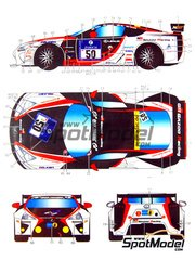 Studio27: Decoración escala 1/24 - Lexus LFA Gazoo Racing Nº 50, 51 - Juichi Wakisaka (JP) + Kazuya Ohshima (JP) + Takayuki Kinoshita (JP) + Akira Lida (JP), André Lotterer (DE) + Jochen Krumbach (DE) + Armin Hahne (DE) - 24 Horas de Nürburgring 2010 - calcas de agua y manual de instrucciones - para kit de Tamiya TAM24319