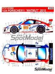 Studio27: Marking / livery 1/24 scale - Porsche 911 GT3R Matmut IMSA #76 - Raymond Narac (FR) + Patrick Pilet (FR) + Patrick Long (US) - American Le Mans Series ALMS 2010 - water slide decals and assembly instructions - for Fujimi reference FJ123905