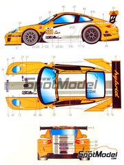 Studio27: Marking / livery 1/24 scale - Porsche 911 Hybrid Mobil #911 - Mike Rockenfeller (DE) + Romain Dumas (FR) + Timo Bernhard (DE) - American Le Mans Series ALMS 2010 - water slide decals and assembly instructions - for Fujimi reference FJ123905