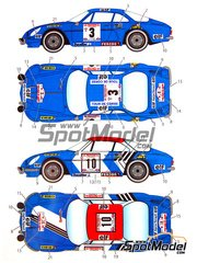 Studio27: Decals 1/24 scale - Renault Alpine A110 ELF #3, 10 - Tour de Corse 1974 - for Tamiya kit TAM24278