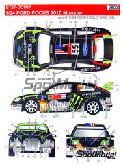 Studio27: Decals 1/24 scale - Ford Focus WRC