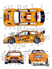 Studio27: Decals 1/24 scale - Ford Focus WRC RS10 Expert #6 - Henning Solberg (NO) + Ilka Minor-Petrasko (AT) - Japan rally 2010 - for SimilR reference SIMILR-121001