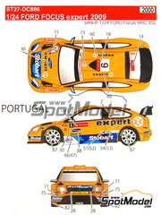 Studio27: Decals 1/24 scale - Ford Focus WRC RS10 Expert #6 - Henning Solberg (NO) + Cato Menkerud (FI) - Galway International Rally, San Marino Rally 2010 - for SimilR reference SIMILR-121001