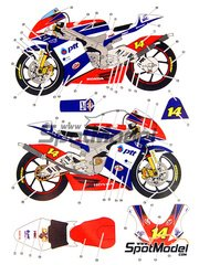 Studio27: Decals 1/12 scale - Honda RSW250 PTT #14 - Motorcycle World Championship 2009 - for Hasegawa kit