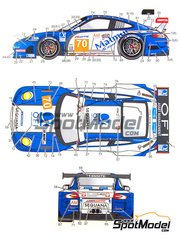 Studio27: Marking 1/24 scale - Porsche 911 GT3RSR Mamut #70 - Pascal Gibon (FR) + Christophe Bourret (FR) + Jean-Philippe Belloc (FR) - 24 Hours Le Mans 2011 - water slide decals and assembly instructions - for Fujimi kit FJ123905