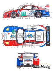 Studio27: Marking / livery 1/24 scale - Porsche 911 GT3 RSR Mamut #76 - Patrick Pilet (FR) + Raymond Narac (FR) + Nicolas Armindo (FR) - 24 Hours Le Mans 2011 - water slide decals and assembly instructions - for Fujimi reference FJ123905