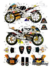 Studio27: Decals 1/12 scale - Honda RSW250 Humangest #55, 34 - Takumi Takahashi (JP) - World Championship 2006 - for Hasegawa kit