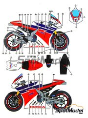 Studio27: Marking / livery 1/12 scale - Honda RC212V HRC #72 - World Championship 2011 - water slide decals and assembly instructions - for Tamiya kit