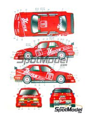 Studio27: Marking / livery 1/24 scale - Alfa Romeo 155 V6 TI TV Spielfilm #11, 12 - Christian Danner (DE), Giorgio Francia (IT) - DTM 1994 - water slide decals and assembly instructions - for Tamiya references TAM24137, TAM24148, TAM24176-old, TAM24182, TAM96356 and TAM96357