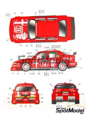 Studio27: Marking / livery 1/24 scale - Alfa Romeo 155 V6 TI Phillips Car System #7, 8, 14, 15 - Nicola Larini (IT) - DTM 1993 - for Tamiya kit