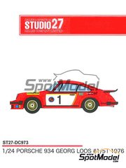 Studio27: Marking / livery 1/24 scale - Porsche 934 Turbo RSR Group 4 #1 - Georg Loos (DE) 1976 - water slide decals and assembly instructions - for Tamiya kits TAM24328 and TAM24334