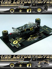 Studio27: Model car kit 1/20 scale - Lotus 72D John Player Special - World Championship 1972 - resin multimaterial kit