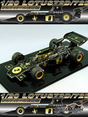 Studio27: Model car kit 1/20 scale - Lotus 72E John Player Special - World Championship 1973 - resin multimaterial kit