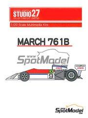 Studio27: Model car kit 1/20 scale - March 761B Hollywood - Brazilian Grand Prix 1977 - resin multimaterial kit