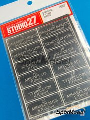 Studio27: Photo-etched parts - F1 drivers 1998