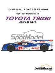 Studio27: Model car kit 1/24 scale - Toyota TS030 Hybrid Denso #7, 8 - 24 Hours Le Mans 2012 - Multimaterial kit image