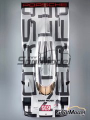 Studio27: Model car kit 1/24 scale - Porsche 919 Hybrid #20 - 24 Hours Le Mans 2014 - multimaterial kit image