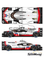 Studio27: Model car kit 1/24 scale - Porsche 919 Hybrid DMG Mori #1, 2 - André Lotterer (DE) + Nick Tandy (GB) + Neel Jani (CH), Timo Bernhard (DE) + Earl Bamber (AU) + Brendon Hartley (AU) - 24 Hours Le Mans 2017 - photo-etched parts, resin parts, rubber parts, vacuum formed parts, water slide decals, white metal parts, other materials, assembly instructions and painting instructions image